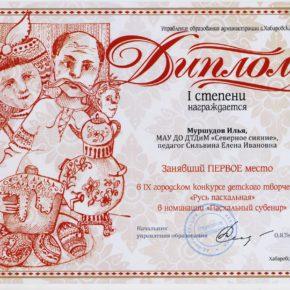 1 место Му3ршудов И. Сильвина ЕИ